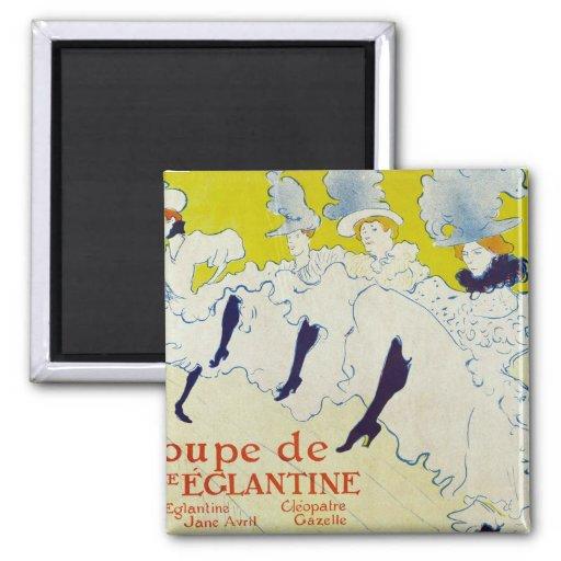 la troup de mlle Elegant poster 1895 by Lautrec Fridge Magnet