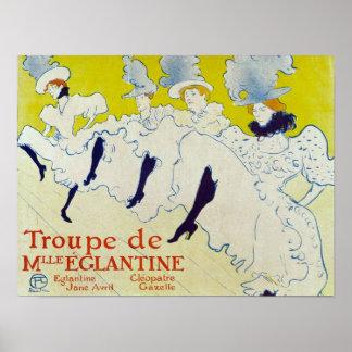 la troup de mlle poster elegante 1895 por Lautrec