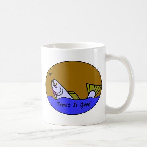 La trucha es buen II Tazas De Café