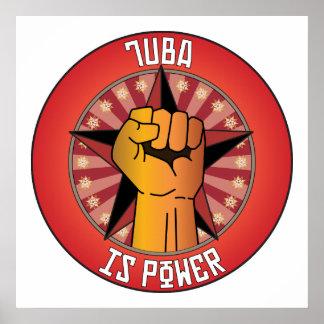 La tuba es poder poster
