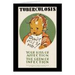 La tuberculosis no me besa bebé felicitación