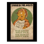 La tuberculosis no me besa bebé tarjeta postal