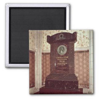 La tumba de Carl Linnaeus Imán Cuadrado