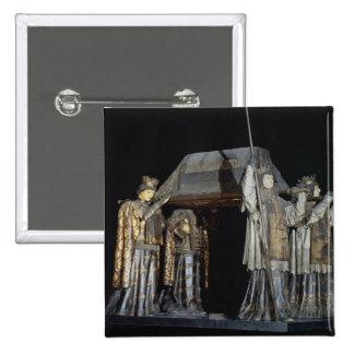 La tumba de Cristóbal Colón Pin Cuadrada 5 Cm