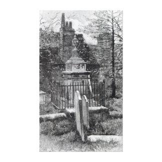 La tumba de Hogarth en el cementerio de Chiswick Impresión En Lona
