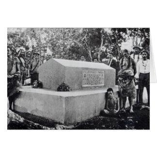 La tumba de Tusitala Tarjeta De Felicitación