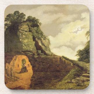 La tumba de Virgil por claro de luna con Silius It Posavasos De Bebida
