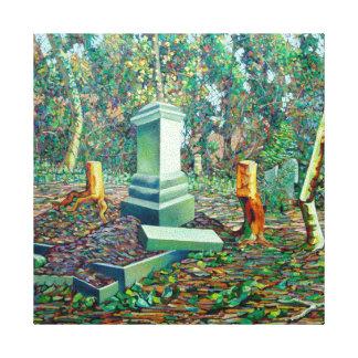 La tumba matada lienzo envuelto para galerías