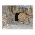 La tumba vacía del Jesucristo en la postal