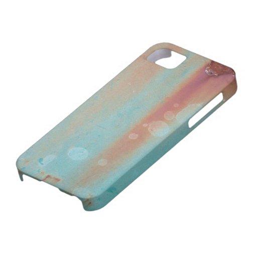 La turquesa aherrumbró metal iPhone 5 Case-Mate cárcasas