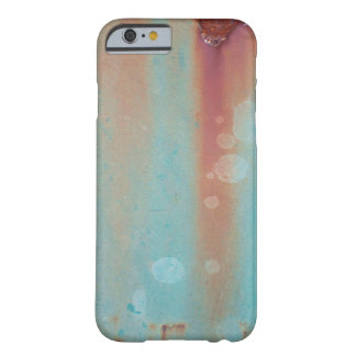 La turquesa aherrumbró metal funda de iPhone 6 barely there