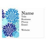 La turquesa azul bonita del trullo florece arte fl tarjetas personales
