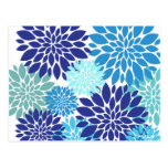 La turquesa azul bonita del trullo florece arte postal