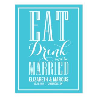 La turquesa come reserva casada bebida la postal