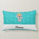 La turquesa conocida personalizada del astronauta almohada