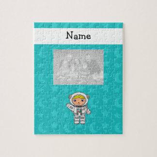 La turquesa conocida personalizada del astronauta  rompecabeza