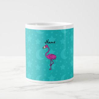 La turquesa conocida personalizada del flamenco pr taza grande