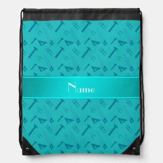La turquesa conocida personalizada equipa el mochilas