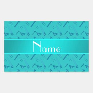 La turquesa conocida personalizada equipa el model etiquetas