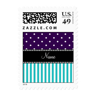 La turquesa conocida personalizada raya puntos envio