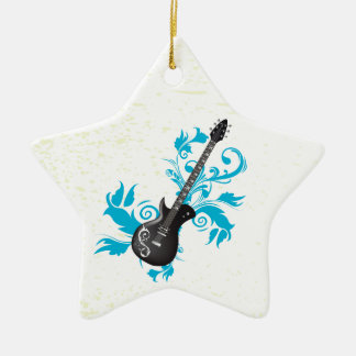 La turquesa de la guitarra eléctrica sale del orna ornato