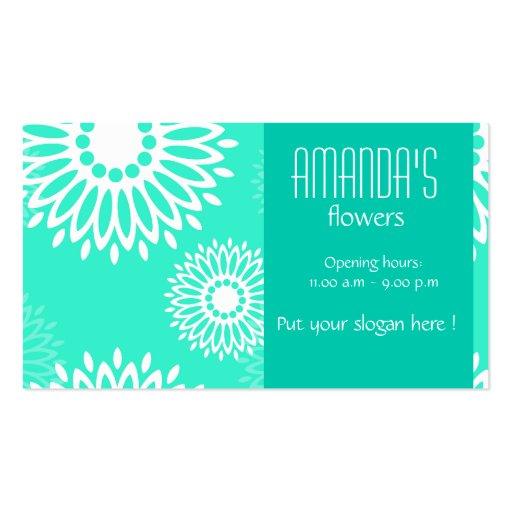 La turquesa del verano florece la tarjeta de tarjetas de visita