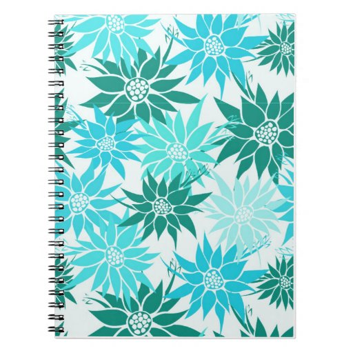 La turquesa florece el cuaderno