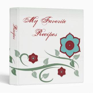 """La turquesa florece libro de la receta carpeta 1"""""""