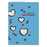 La turquesa manchada de los corazones sea mi tarje tarjeta