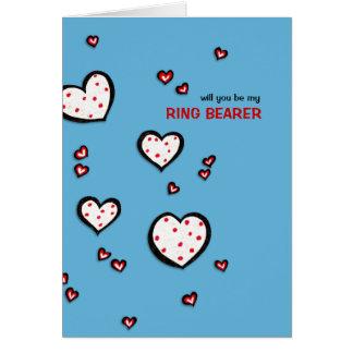 La turquesa manchada de los corazones sea mi tarjeta de felicitación