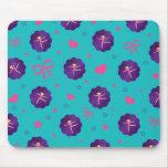 La turquesa protagoniza al gimnasta púrpura de la tapetes de ratón