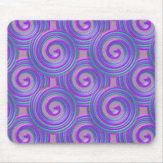 La turquesa púrpura tuerce en espiral Mousepad Tapetes De Ratones
