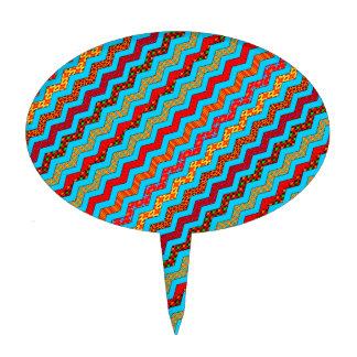 La turquesa raya color de los diseños geométricos figura de tarta