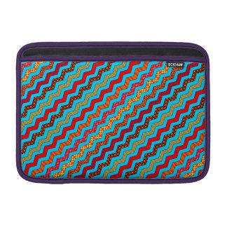 La turquesa raya color de los diseños geométricos funda  MacBook