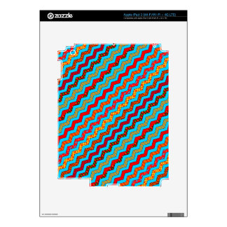 La turquesa raya color de los diseños geométricos iPad 3 pegatinas skins