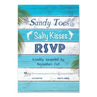 """La turquesa Sandy toca con la punta del pie los Invitación 3.5"""" X 5"""""""