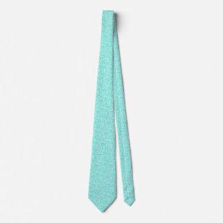La turquesa y el blanco vetearon las nubes corbatas personalizadas