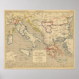 La Turquie, la Grece et l'Italie de 1700 a 1840 Poster