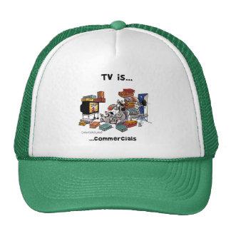 La TV es… Anuncios publicitarios Gorras