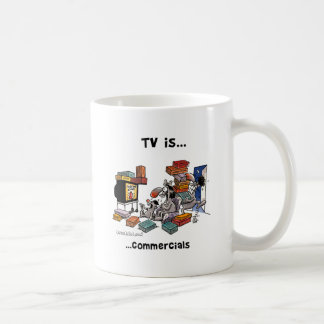 La TV es… Anuncios publicitarios Taza Básica Blanca