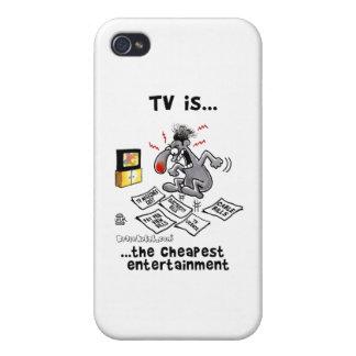 La TV es… El entretenimiento más barato iPhone 4 Funda