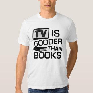 La TV es Gooder que los libros divertidos Poleras