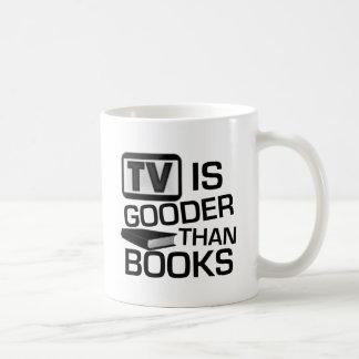 La TV es Gooder que los libros divertidos Taza
