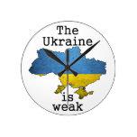 La Ucrania es débil Relojes De Pared