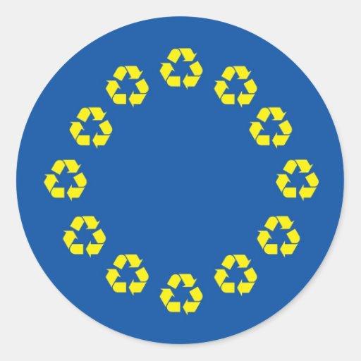 La UE anti señala la unión por medio de una Pegatina Redonda