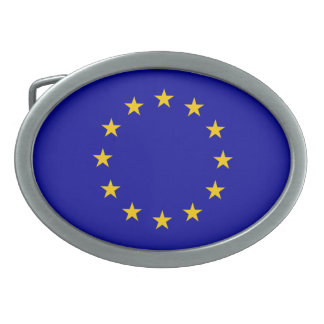 La UE señala por medio de una bandera Hebillas Cinturón Ovales