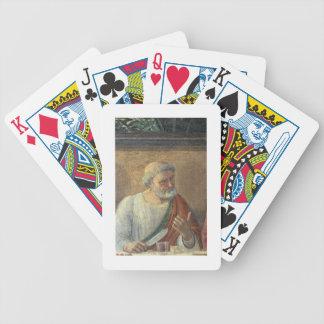 La última cena, 1480 (fresco) (detalle de 61997) barajas de cartas