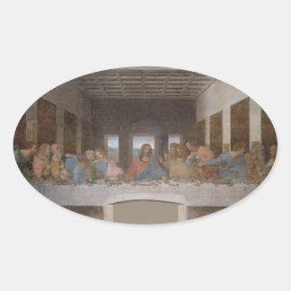La última cena (1495-1498) calcomanías de ovales personalizadas