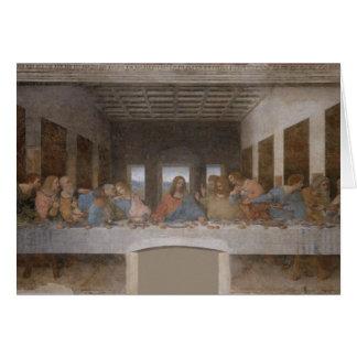 La última cena (1495-1498) tarjeton