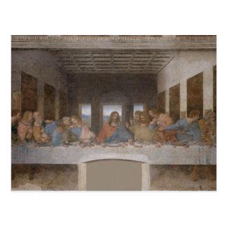 La última cena (1495-1498) tarjeta postal